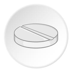 Pills icon. Cartoon illustration of pills vector icon for web
