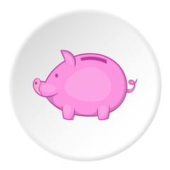 Piggy icon. Cartoon illustration of piggy vector icon for web
