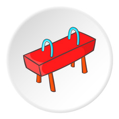 Pommel horse icon. Cartoon illustration of pommel horse vector icon for web