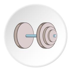 Heavy dumbbell icon. Cartoon illustration of heavy dumbbell vector icon for web