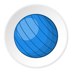 Blue volleyball ball icon. Cartoon illustration of blue volleyball ball vector icon for web