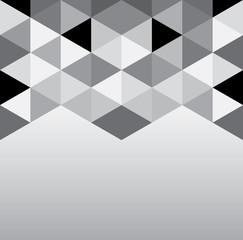 Abstract geometrical background with triangles and space for message.