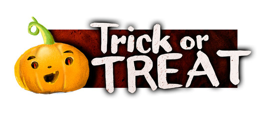 Calabaza de Halloween, truco o trato