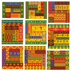 African ethnic patterns and ornaments