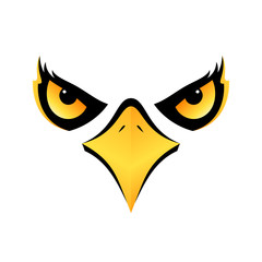 eagle head on white background vector icon eps10