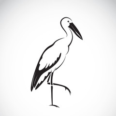 Vector of stork design on white background. Stork Icon.