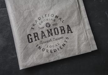 Printed Textile Logo Mockup