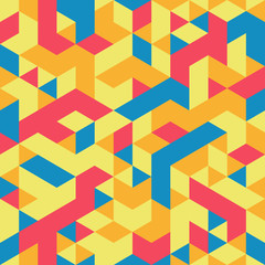 Abstract geometrical 3d colorful background