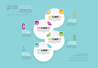 Gloss White Step Infographic