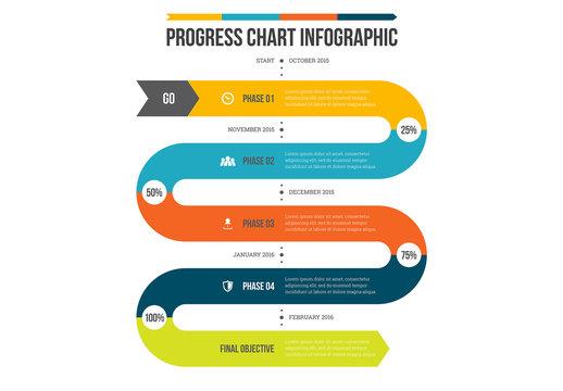 Progress Chart Infographic