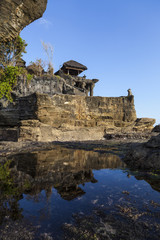 The Tanah Lot Temple at Bali Indonesia