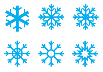 snowflake set for Christmas design.
