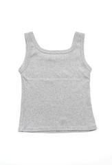 women grey vest on white