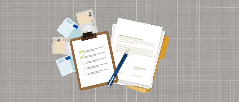 task list preparation contract document money loan credit