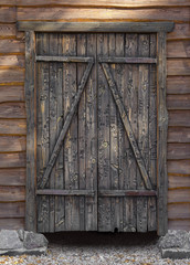 wooden gate closeup