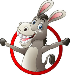Cartoon funny donkey