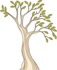 Stylized tree illustration
