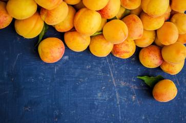 ripe juicy apricots.