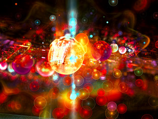 Abstract bright bubbles - digitally generated image