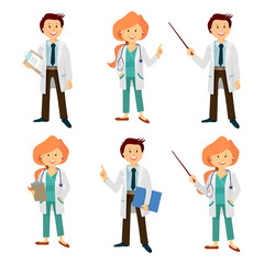 cartoon characters for the presentation , the doctor
