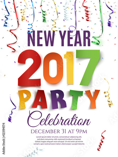 """""""New Year 2017 party poster template."""" Stock image and ..."""