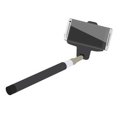 Selfie stick with smartphone