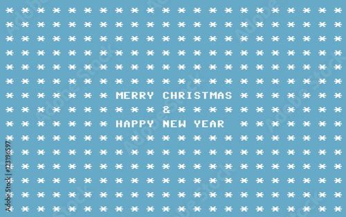 blue ascii art retro computer christmas card stockfotos. Black Bedroom Furniture Sets. Home Design Ideas