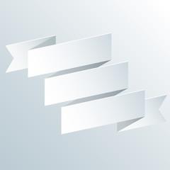 Paper ribbon, vector illustration.