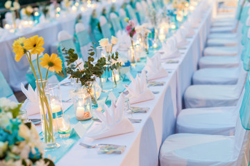 Romantic dinner setup - Wedding