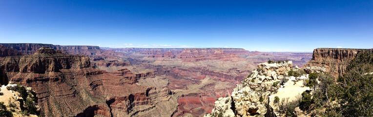 Deurstickers Rudnes Grand Canyon skyline panorama in blue sky