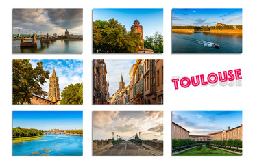 Carte postale de Toulouse en Occitanie, France
