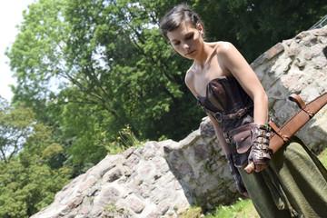 Pagan Woman after battle