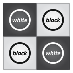 Black and White communication concept