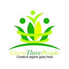 Green three people