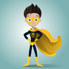 Superhero boy with mask
