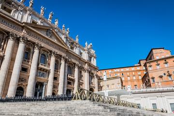L'esplanade de la place Saint-Pierre au Vatican