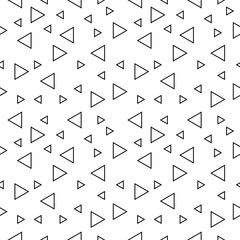 Abstract geometric black and white hipster fashion random triangle pattern