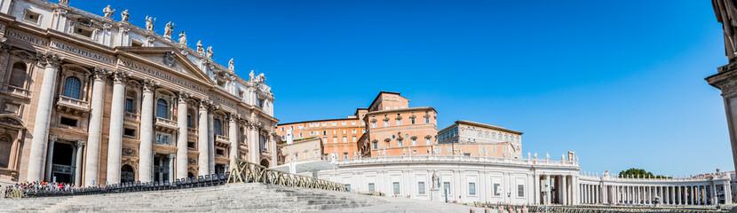 Panorama de l'esplanade de la place Saint-Pierre au Vatican