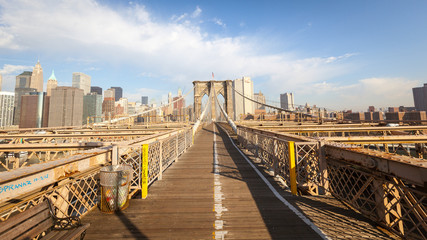 Pedestrian zone of the Brooklyn Bridge