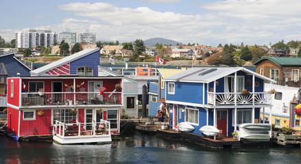 Fisherman Wharf in Victoria (British Colony, Canada)