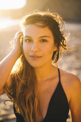 Portrait of woman in swimsuit