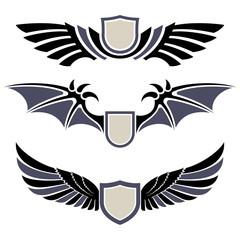 Wings. Set of design elements