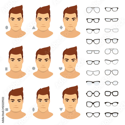 9dd6001ae6c4 Eyeglasses shapes for men. Types of eyeglasses for different man face -  square