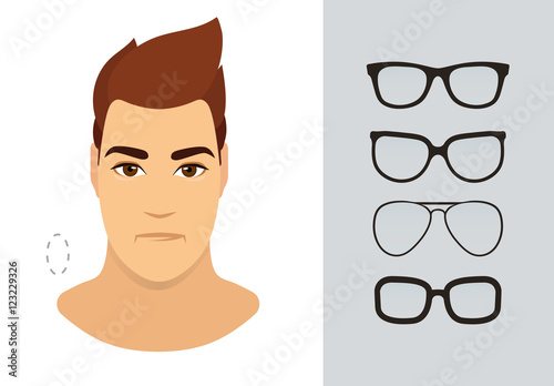 4f42922d01 Man eyewear shapes for oblong man face type. Various forms of summer  eyeglasses for oblong