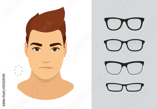 Man sunglasses shapes for oval man face type. Various forms of ...