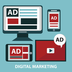 Concepts for video marketing, digital marketing, advertising, social media, web and mobile apps and services, e-commerce, SEO. Concepts for website banners and printed materials.
