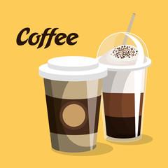 delicious coffee shop products vector illustration design