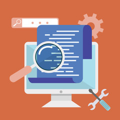 Programming and coding. App development and code optimization. . Innovation and technologies. Mobile app