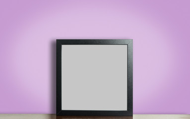 Blank Thick photo frame with pink background