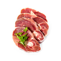 Four lamb slices with spice herbs